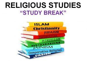 Religious Studies Study Break @ DB 0011