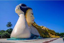 The Nya Thar Lyaung reclining Buddha in the Bago region of Myanmar